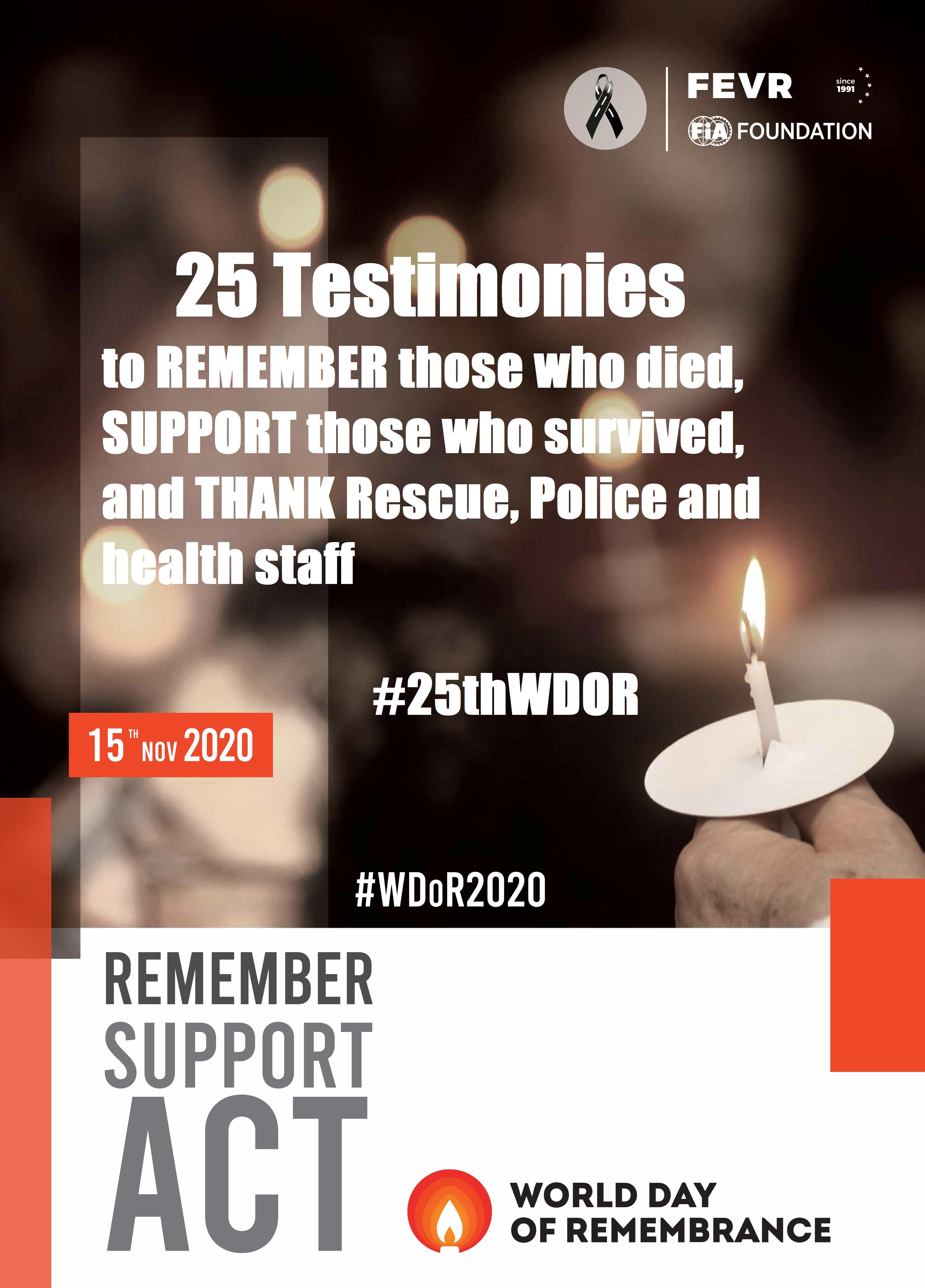 25 testimonies Poster